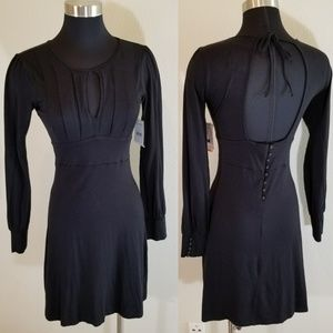 Free People Size 4 Dress Open Back Button Details